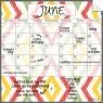 Monthly/Weekly Calendar Wall Decal Set: Aztec
