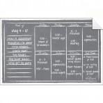 Weekly Calendar Wall Decal + Marker Set: Gray Chalkboard
