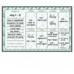 Weekly Calendar Magnet + Marker Set: Teal Herringbone
