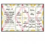 Weekly Calendar Magnet + Marker Set: Aztec