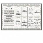 Weekly Calendar Magnet + Marker Set: Tribal