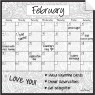 Monthly Calendar Wall Decal (Paisley) + Marker 4 Pack