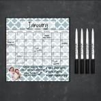 Monthly Calendar Magnet (Lattice)+ Marker 4 Pack