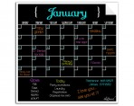 Monthly Calendar Wall Decal (Black) + Spring Marker 4 Pack