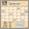 Monthly Calendar Magnet (Wheat)+ Marker 4 Pack