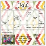 Monthly Calendar Magnet (Aztec)+ Marker 4 Pack