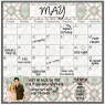 Monthly Calendar Magnet (Tribal)+ Marker 4 Pack
