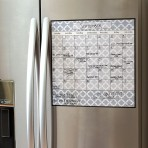 15″ x 15″ Monthly Calendar Magnet: Lattice