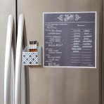 12″ x 12″ Menu Magnet: Gray