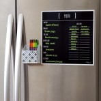 12″ x 12″ Menu Magnet: Black Fluorescent