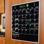 15″ x 15″ Monthly Calendar Decal: Black Fluorescent