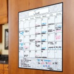 15″ x 15″ Monthly Calendar Decal: Gray Damask