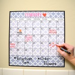 15″ x 15″ Monthly Calendar Decal: Lattice